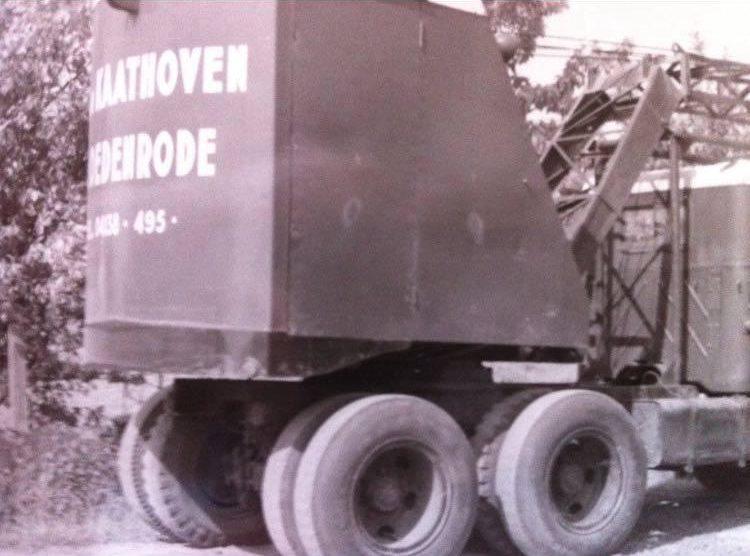 Historische foto's grondwerk en sloopwerkbedrijf Van Kaathoven